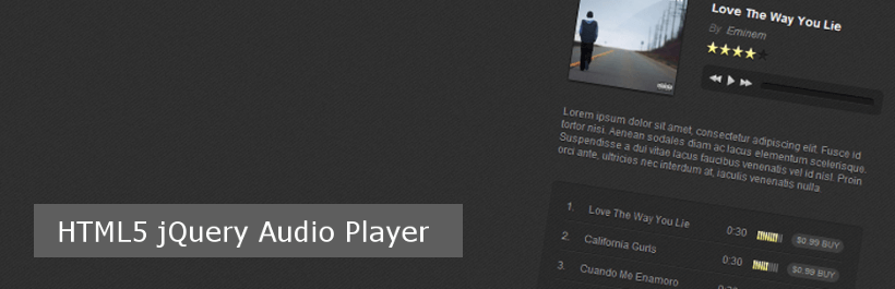 HTML5 jQuery Audio Player HTML5 audio player plugin
