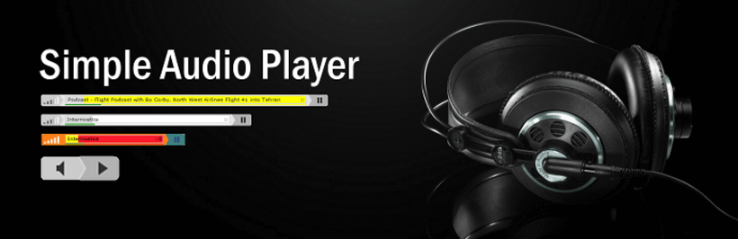 Simple Audio Player HTML5 audio player plugin