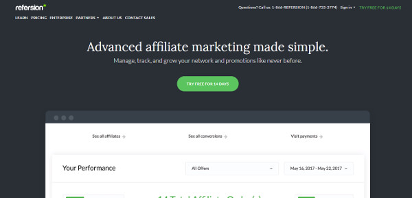 Refersion affiliate marketplace