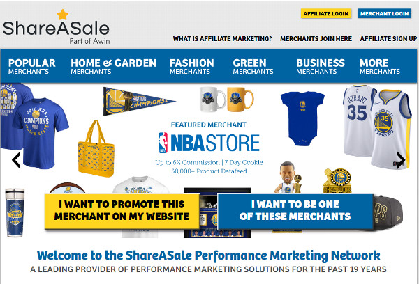 ShareASale best affiliate networks for bloggers