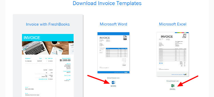 Freshbook imvoice template page image
