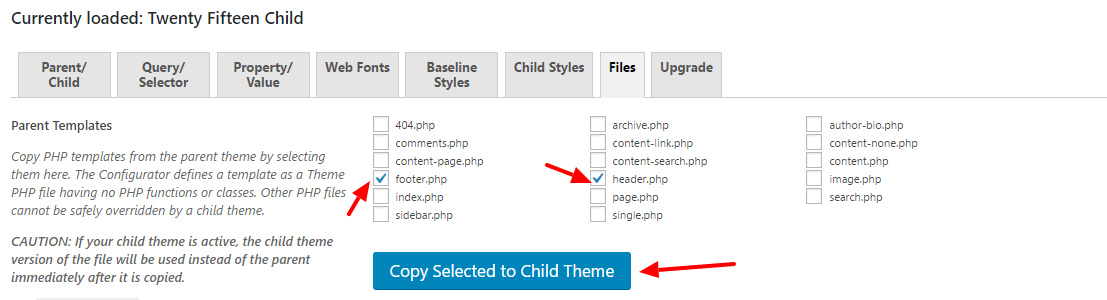 create wordpress child theme