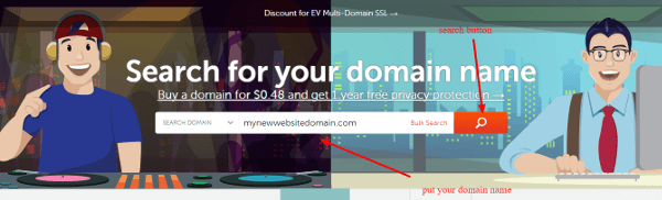 Open namecheap website to buy top level domain name and make online presence