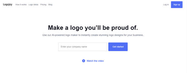 Logojoy best logo design maker