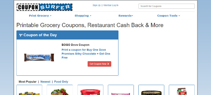 CouponSurfer Online Reward Site