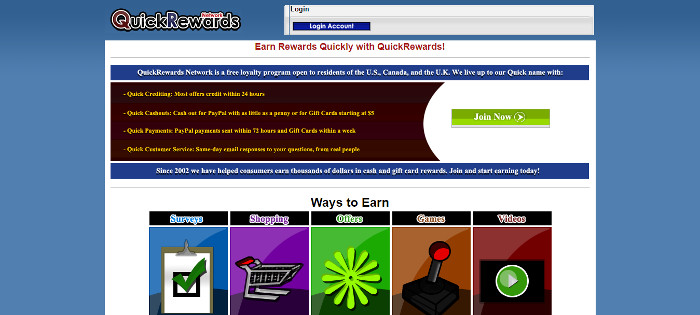 QuickRewards Online Reward Site