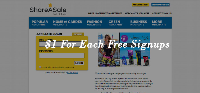 ShareASale best pay per lead affiliate program