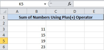 Get How Many Numbers to Find Add Numbers in Excel