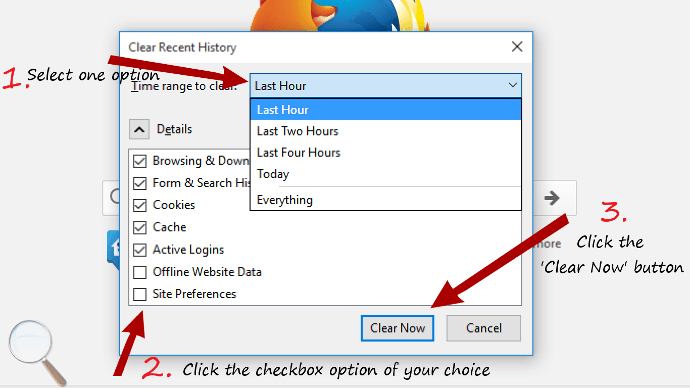 This will clear Firefox browsing history