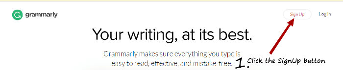 Grammarly english writing click signup