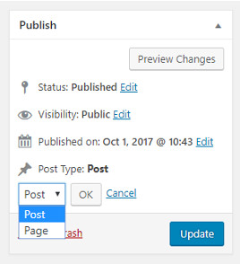 Switch custom post type edit post page image
