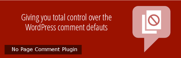No Page Comments Plugin
