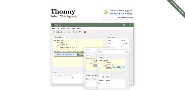 Thonny Best IDE Text Editor For Python