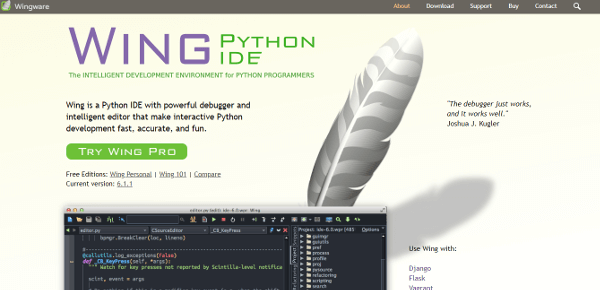 Wing Best IDE Text Editor For Python