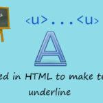 HTML underline