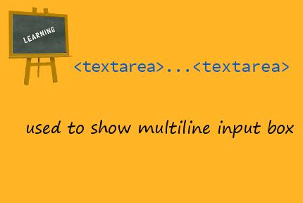 html textarea tag