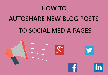 auto share new blog posts to social media accounts