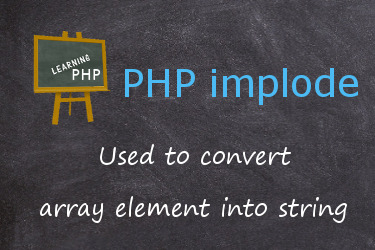 PHP implode function