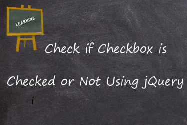 check if checkbox is checked or not