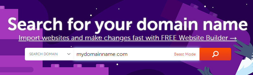 Enter Domain Name in the homepage of Namecheap